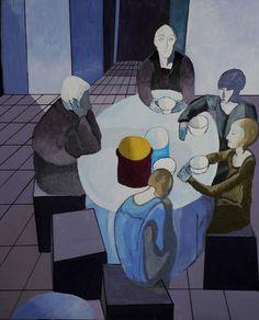 solitudine_casorati_mattino Italian Painters, Italian Artist, Bay Area Figurative Movement, Art Eras, Night Shadow, Composition Art, Young Art, Italy Art, Vintage Artwork