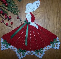 New Handmade Christmas Crinoline Crochet by DianesCustomCrochet Crochet Dollies, Crochet Doily Patterns, Crochet Diagram, Crochet Art, Thread Crochet, Cute Crochet, Crochet Motif, Vintage Crochet, Crochet Crafts