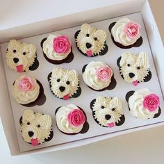 I woof you ❤️ cakes cake doglk buttercreamcake birthdaycake cupcakes cakeshop cakejakarta kueulangtahun kuejakarta… – Artofit No photo description available. I need to make Biscuit and Gravy cupcakes soon! So freakin' cutee Mini Cupcakes, Puppy Cupcakes, Flower Cupcakes, Birthday Cupcakes, Mini Cupcake Bouquets, Valentine Cupcakes, Puppy Cake, Buttercream Cupcakes, Cupcake Frosting