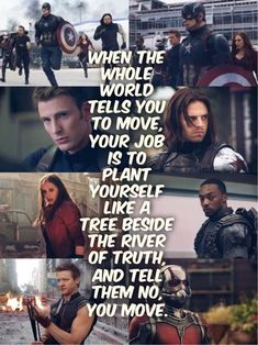 Okay, never seen Captain America, but I love this quote
