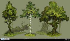 ArtStation - Max: The Curse of Brotherhood - Trees, Robert Friis