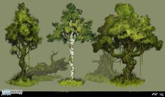 ArtStation - Max: The Curse of Brotherhood - Trees, Robert Friis