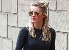 How to Pull Off the Half Bun via @PureWow