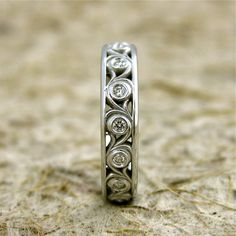 Hand Crafted Diamond Wedding Ring in 14K by AdziasJewelryAtelier, $920.00