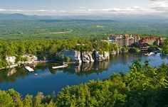 Lake Mohonk Mountain House Complex in Ulster County, New York.