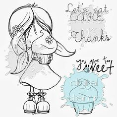 Tiddly Tuesday  - Eat Cake Wryn and holiday special for clear stamps!