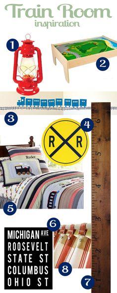 Train Room inspiration board