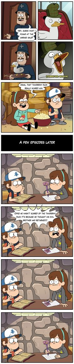 A sudden realization by markmak.deviantart.com on @DeviantArt We're getting really into this Ducktective = Gravity Falls analogy
