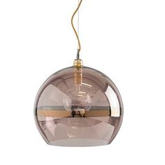 The Rowan pendant lamp is produced in mouth-blown glass, combined with brass metal fitting and round gold fabric wire and gold metal ceiling rose. Colour, metallic copper stripe on obsidian glass. Lamp, Light, High Ceiling Lighting, Ceiling Pendant Lights, Ceiling Light Shades, Ceiling Pendant, Glass Ceiling Pendant, Suspension Lamp, Hanging Ceiling Lights