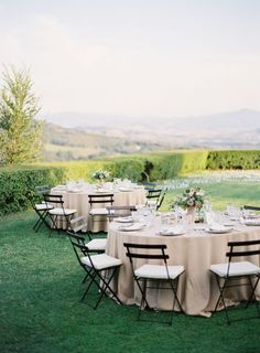 Elegant Italy Wedding...love the chairs and tablecloths