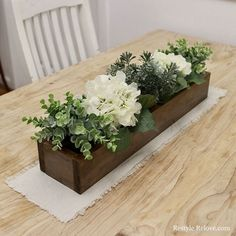 88 Incredible Diy Rustic Home Decor Ideas is part of Rustic wooden box centerpiece - Home decorations are a big part of the furniture industry Since I started working in the furniture business in 2007 […] Wooden Box Centerpiece, Farmhouse Table Centerpieces, Wooden Planter Boxes, Farmhouse Side Table, Table Decorations, Centerpiece Ideas, Rustic Farmhouse, Wedding Centerpieces, Everyday Centerpiece