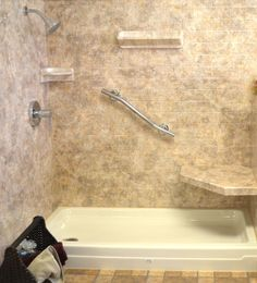 this may look like a tiled shower but itu0027s acrylic the best of both