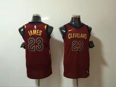 98d51620 Nike NBA Cleveland Cavaliers #23 LeBron James Jersey 2017 18 New Season  Wine Red women