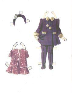 Dionne Quintuplets Paper Dolls (4 of 26): Yvonne, #3488 Merrill 1940 | Miss Missy Paper Dolls