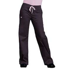 Such a nice fit. Love the heart too. Med Couture Women's Drawstring Solid Scrub Pant