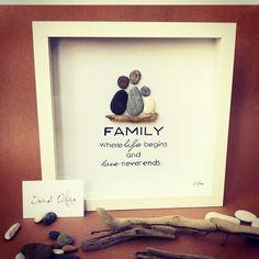 Pebble art Family time