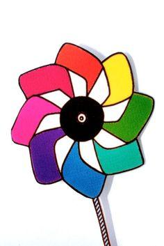 kite design windmill rainbow pin