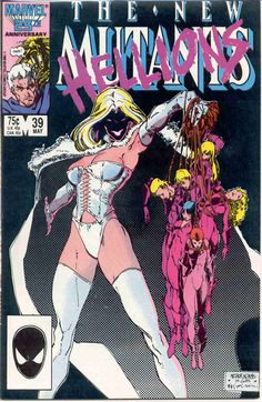the New Mutants (vol.1) #39. White Queen and Hellions