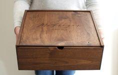 Grand souvenir boîte boîte en bois Card Box Photo par Wayfaren