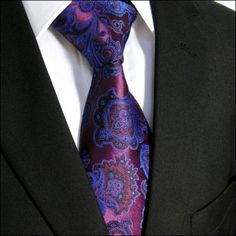 With its #unusual #paisley in #purple #tones prents we this  classic #business #tie  Only 6,89 Euro On Ebay