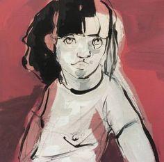 """Saatchi Art Artist Monica Bonzano; Painting, """"PORTRAIT OF HERSELF (4)"""" #art"""