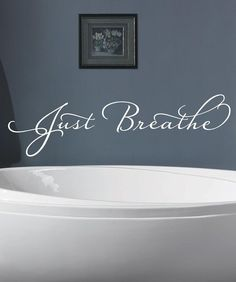 Just Breathe Vinyl decalVinyl Lettering wall by itswritteninvinyl, $15.88