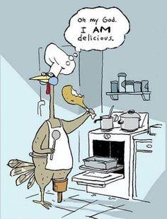 Even turkeys love turkey! #Thanksgiving dinner recipes