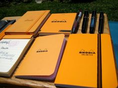 Rhodia - My all time favorite paper to write on.  Everyone needs to have a little Rhodia Notebook!!!