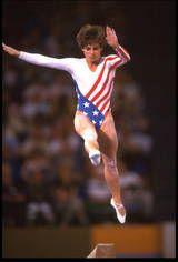 Mary Lou Retton - 1984 Olympics, All-Around Gymnastics, Balance Beam. Her smile stole America's heart