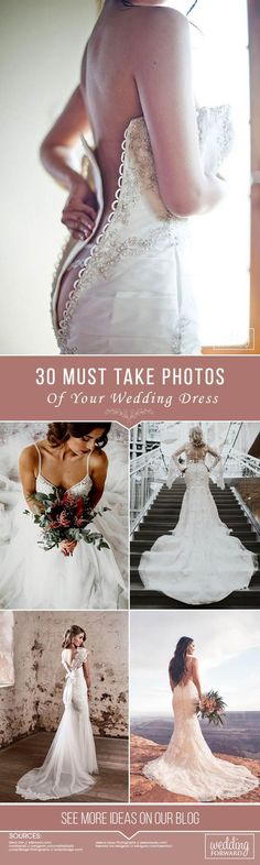 30 Must Take Photos Of Your Wedding Dress ❤ See more: http://www.weddingforward.com/must-take-photos-wedding-dress/ #wedding #photography #weddingdress
