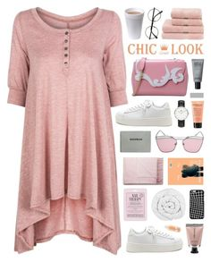 """CHIC LOOK CLOSET"" by novalikarida ❤ liked on Polyvore featuring Boutique Moschino, Love 21, Josie Maran, Christy, Acne Studios, The Fine Bedding Company, Daniel Wellington, philosophy, Davines and MAKE UP FOR EVER"