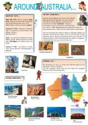 English Worksheets: AROUND AUSTRALIA ( part 1 )