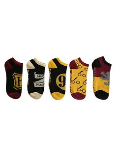 Harry Potter Classic No-Show Socks 5 Pair | Hot Topic