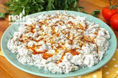 Labneli Köz Patlıcan Salatası (Muhteşem Lezzet) Grains, Rice, Pasta, Food And Drink, Foods, Food Food, Laughter, Korn, Ranch Pasta
