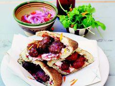 Kefta - marockanska köttbullar i pitabröd