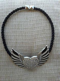necklace with heart and wings