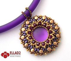 Beading Tutorial for Heva Pendant is very detailed, easy to follow, step by step. Made with pellet, superduo and O-beads.