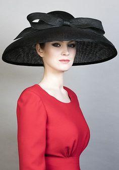 19a85713361 black fine straw  tiffany  bell hat with bow   rachel trevor morgan    spring summer 2016