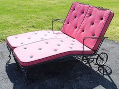 find this pin and more on vintage wrought iron patio furniture