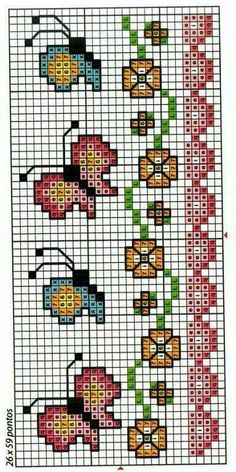 Thrilling Designing Your Own Cross Stitch Embroidery Patterns Ideas. Exhilarating Designing Your Own Cross Stitch Embroidery Patterns Ideas. Tiny Cross Stitch, Butterfly Cross Stitch, Cross Stitch Bookmarks, Cross Stitch Borders, Cross Stitch Flowers, Cross Stitch Charts, Cross Stitch Designs, Cross Stitching, Cross Stitch Embroidery