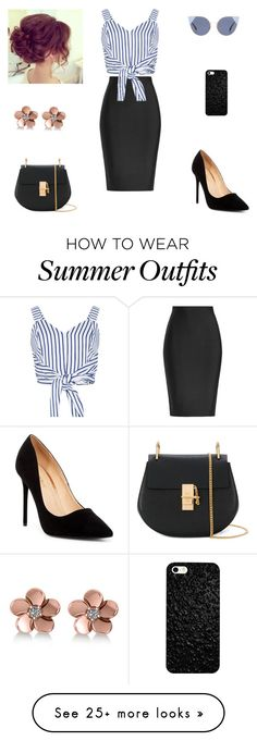 """summer outfit"" by astraunicorns on Polyvore featuring Roland Mouret, WithChic, Liliana, Chloé, Fendi and Allurez"