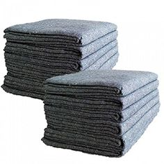 "UBOXES Textile Moving Blankets (12 Pack) Professional Quality Moving Skins 54"" x 72"" Pads, Grey"