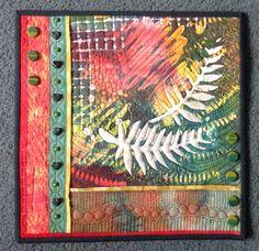 Fiber art by Heidi Zielinski - 2016 SAQA auction donation