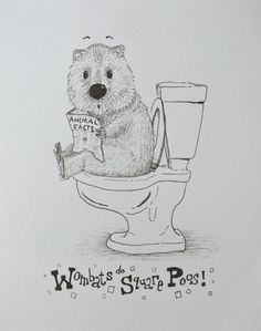 Hey, I found this really awesome Etsy listing at https://www.etsy.com/listing/235458446/original-wombat-poo-drawing-or-1-of-5
