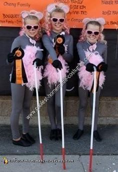 Coolest Homemade Three Blind Mice Girls Group Halloween Costume Haircut Style peaky blinders haircut style name Hollween Costumes, 3 People Costumes, Clever Costumes, Costume Ideas, Girl Group Halloween Costumes, Halloween Kostüm, Homemade Halloween, Family Halloween, Halloween Makeup