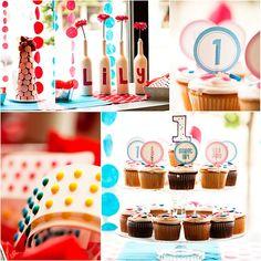 First Birthday Polka Dot Party