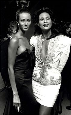 Beverly Johnson and Iman - Vogue.it