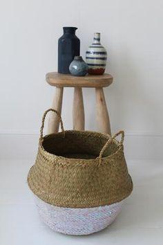 Ab White Sequin Storage Basket - 3 Sizes