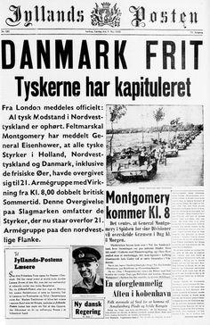 Forsiden på @jyllandsposten for 70 år siden #Befrielsen #WW2 #frihed