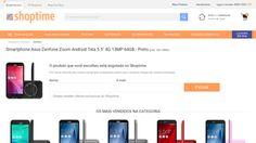 [Shoptime] Smartphone Asus Zenfone Zoom Android Tela 5.5 ´ 4G 13MP 64GB - Preto - de R$ 1.718,10 por R$ 1.319,12 (23% de desconto)
